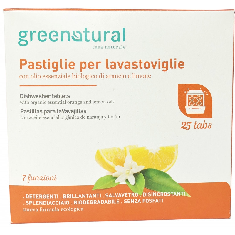 Greenatural nõudepesumasina tabletid 25tk