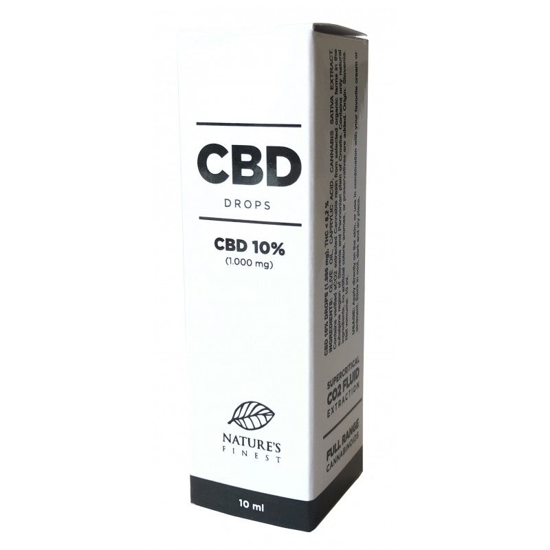 Nature's Finest CBD 10% tilgad 10ml