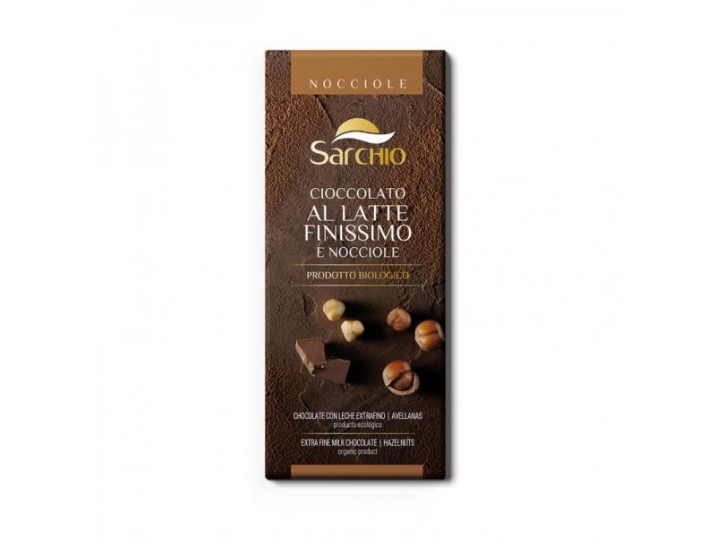 Sarchio gluteenivaba piimašokolaad sarapuupähkli tükkidega 80g