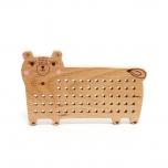 Petit Monkey puidust tikkimise alus, Karu
