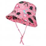 Breden müts Soren roosa koll