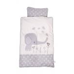 BabyDan voodipesukomplekt Elefantastic Grey 70x100cm