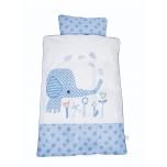 BabyDan voodipesukomplekt Elefantastic Blue 70x100cm