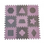 BabyDan pusle mängumatt Geometric Rose 9tk