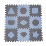 BabyDan pusle mängumatt Geometric Blue 9tk