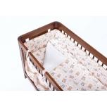 Troll 2-osaline voodipesukomplekt Öökullid 100x130cm