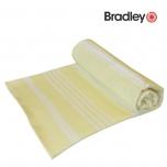 Bradley rannalina 90x170cm sile/frotee triibuline kollane