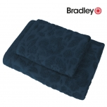 Bradley froteerätik muster 50x70cm sinine