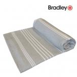 Bradley rannalina 90x170cm sile/frotee triibuline hall