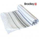 Bradley rannalina 70x140cm sile/frotee triibuline beež
