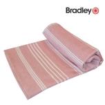 Bradley rannalina 90x170cm sile/frotee triibuline roosa