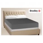 Bradley voodilina satiinist, helehall 160x250cm