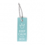 Childhome mint blue uksesilt Keep Calm Boy