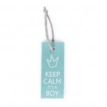 Childhome mint blue uksesilt Keep Calm Boy