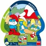 Dino siluett plaatpusle 21 tk Smurf 3+