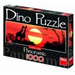 Dino panoraampusle 1000 tk Kaelkirjakud päikeseloojangul 10+