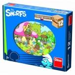 Dino puidust klotsipusle Smurf 12tk 3+