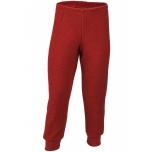Engel pidžaama püksid meriinovilla frotee, punane