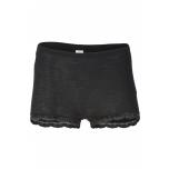 Engel naiste aluspüksid pitsäärega vill-siid, must