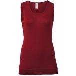 Engel naiste pikk varrukateta särk vill-siid, punane