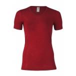 Engel naiste lühikeste varrukatega pluus vill-siid, punane