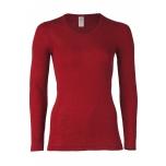 Engel naiste pikkade varrukatega pluus vill-siid, punane