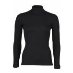 Engel poolkõrge kaelusega sviiter soonikmustriga vill-siid, must