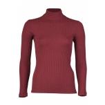 Engel poolkõrge kaelusega sviiter soonikmustriga vill-siid, burgundia