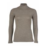 Engel poolkõrge kaelusega sviiter soonikmustriga vill-siid, pähkel