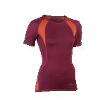 Engel Sports naiste lühikeste varrukatega pluus vill-siid, tango punane-oranž