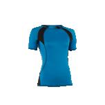 Engel Sports naiste lühikeste varrukatega pluus vill-siid, taevasinine-must
