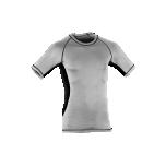 Engel Sports meeste lühikeste varrukatega särk vill-siid, hõbehall-must