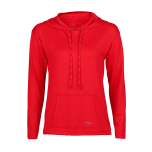 Engel Sports naiste kapuutsi ja taskuga pusa vill-siid, punane