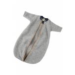 Engel pikkade varrukatega magamiskott meriinovilla fliisist, helehall