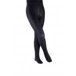 FALKE soonikmustriga puuvillased tüdrukute sukkpüksid, darkmarine