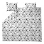 Finlayson Esther 3-osaline voodipesukomplekt valge-must satiin 240x210cm