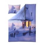 Finlayson Muumilaakson Talvi 2-osaline voodipesukomplekt satiin 150x210cm