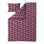 Finlayson Elefantti 2-osaline voodipesukomplekt 150x210cm, burgundia - juuni pakkumine