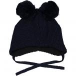 Geggamoja kootud tutiga müts, tumesinine