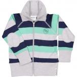 Geggamoja meriinovillane lukuga jakk, roheline triibuline