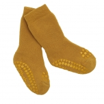 GoBabyGo stopperitega sokid mustard