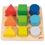 Goki sorteerimismäng värvid ja vormid 1+