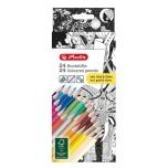 Herlitz värvipliiats Adult color 22 värvi + hõbe ja kuld