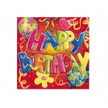 Susy Card salvrätikud Happy Birthday 33x33cm 20tk