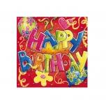 Susy Card salvrätikud Happy Birthday 33x33cm 20tk