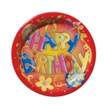 Susy Card papptaldrik Happy Birthday 23cm 10tk