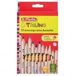 Herlitz värvipliiats Trilino puit 12 värvi