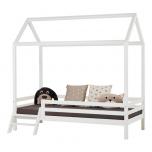 Hoppekids BASIC Maja voodi redeliga 90x200cm valge