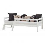 Hoppekids BASIC voodi turvapiirde ja redeliga 90x200cm valge