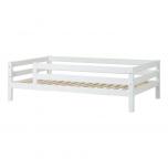 Hoppekids PREMIUM voodi 3/4 turvapiirdega 120x200cm valge